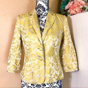 Banana Republic Silk Gold Blazer